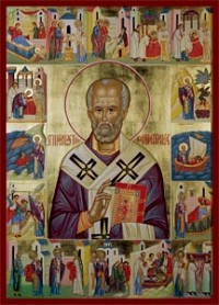 St. Nicholas Life with Scenes from the Cathedral Collection