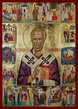 Icon of St. Nicholas with his life