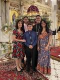 Father Thomas, Khourieh Claudia, Simone, George and James, Pascha 2020